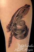 Quill and ink tattoo by nataliaborgia