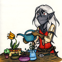 Ash Likes Plants. by trilly-ankh