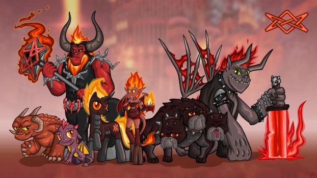 Heroes of Friendship and Magic: Inferno by Alevgor