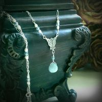 Victorian Frozen Teardrop Necklace by QuintessentialArts