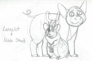 HHG  Lancelot and Noble Steed by SapphireSquire