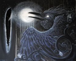 +the raven and the moon+ by Opaca