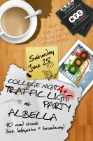 College Traffic Party Flyer by stevisimo