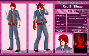 CR Chara Sheet : RED by Ardrie