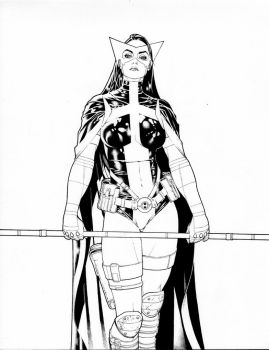 Huntress comission lines by PauloSiqueira