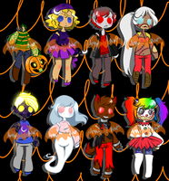 Hellaween (DRAW TO ADOPT) by JessiAdopts