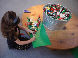Building with Legos by maryhelen