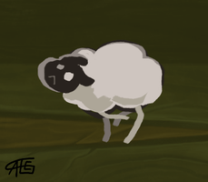 Among the sheep by griffsnuff