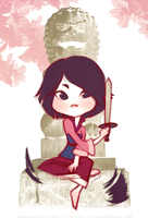 cuttin my hairs - Mulan by cerena