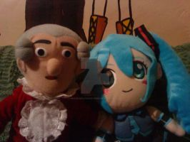 Mozart and Miku by Hoshi-Wolfgang-Hime