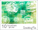 Asian Postmark Brushes by Project-GimpBC