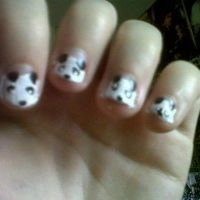 Panda nails! by alicecorley