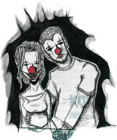 .pair.of.clowns.selfportrait. by chelox