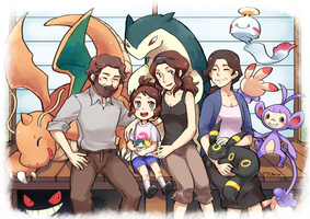 a crowded family picture