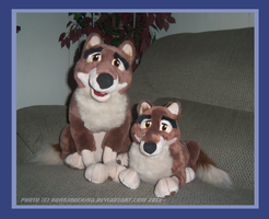 .: Balto Plushies :. by Dunkin-Prime