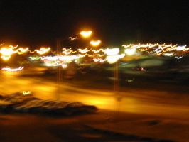 Blurry Night Street by josmith