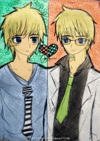 two different Landon by JaneDyland
