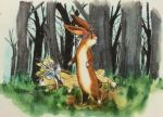 Some Rabbits, in a Forest by angeldevilland