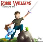 Robin Williams, The hero of time (tribute to RW) by Jonathanjo