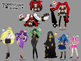 7 Deadly Hairstyle sisters - chara lineup [MSnD] by SoloAzume