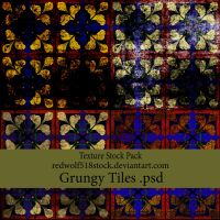 Grungy Tiles Texture Pack by redwolf518stock