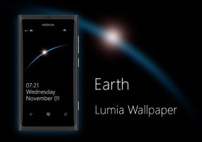 Earth Minimal Nokia Lumia WP7 Wallpaper by biggzyn80