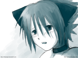 What's wrong, Sasuke? -neko- by fireaangel