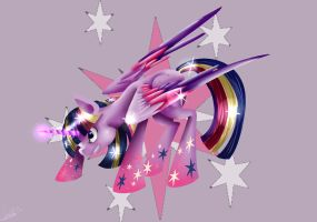 Rainbow Power Twilight by Moeru789