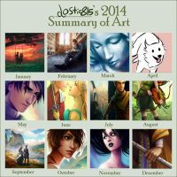 Lostie815's 2014 Summary of Art by lostie815