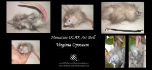 Opossum Miniature OOAK by Killslay-steelclaw
