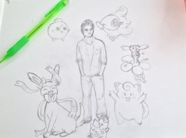 Scott Mccall and his fairy-type team - sketch by thnksfrthwilliam