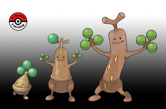 438 - 185 Sudowoodo Line by InProgressPokemon