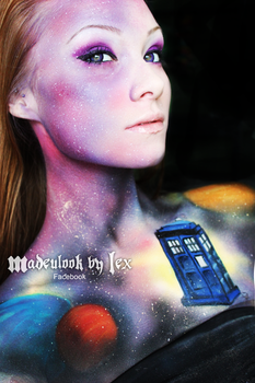 Doctor Who Inspired Body Paint by MadeULookbylex