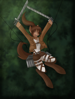 Attack on Titan sasha MLP by KodokunaShiroiOkami