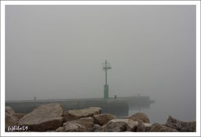 dense fog at sea by biba59