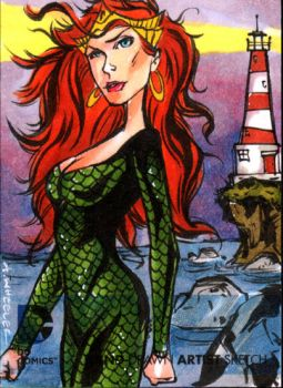 DC NEW 52 Mera Skechcard by wheels9696