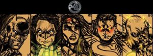 Justice_League_Big_Five_Banner by Shigurui