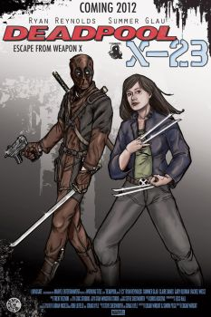 Deadpool and X-23 Movie poster by keoku216