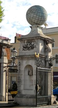 Greenwich Stone Gate post by stoneangel3