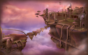 Floating Steampunk City by Jullith