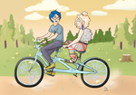 Only Cool Kids Ride Tandem by k00k3y
