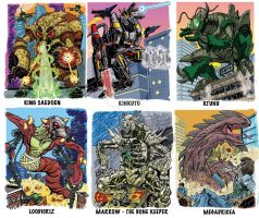 Colossal Kaiju Combat SPN 2 Trading Card Samples 4 by fbwash
