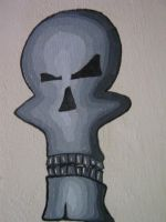 skullie on my wall by 1jazzy1