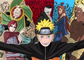 Naruto and the Kages by Stephadri94