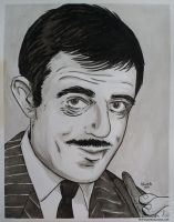 John Astin as Gomez Addams Inkwash by JesseAcosta