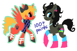 My Little Pony: FIM adoptables: 1 CLOSED by Buttzazzle