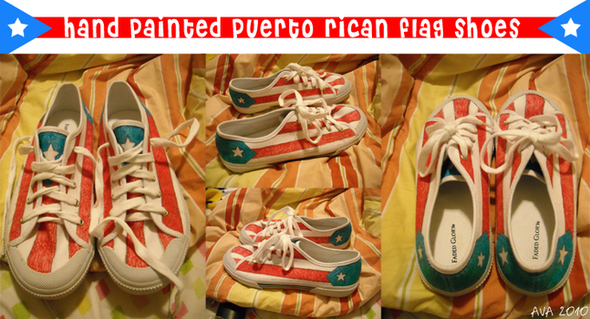 Puerto Rican Flag Shoes by westiepup