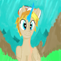 Crystal Horn Alicorn: Ethan Pow Delta self draw by EthanPow