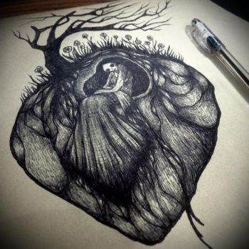 my lonely broken heart by Woodedwoods