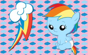 Baby Rainbow Dash WP by AliceHumanSacrifice0